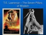 t e lawrence the seven pillars of wisdom