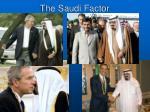 the saudi factor
