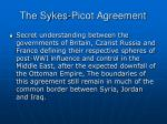 the sykes picot agreement