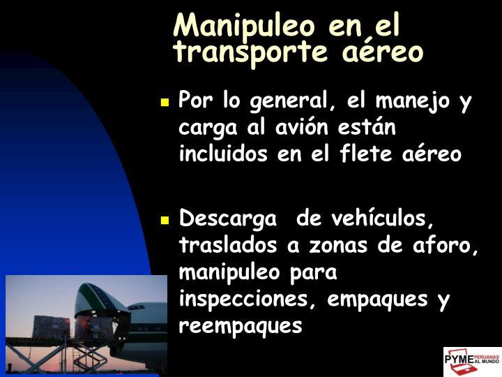 Manipuleo en el transporte aéreo