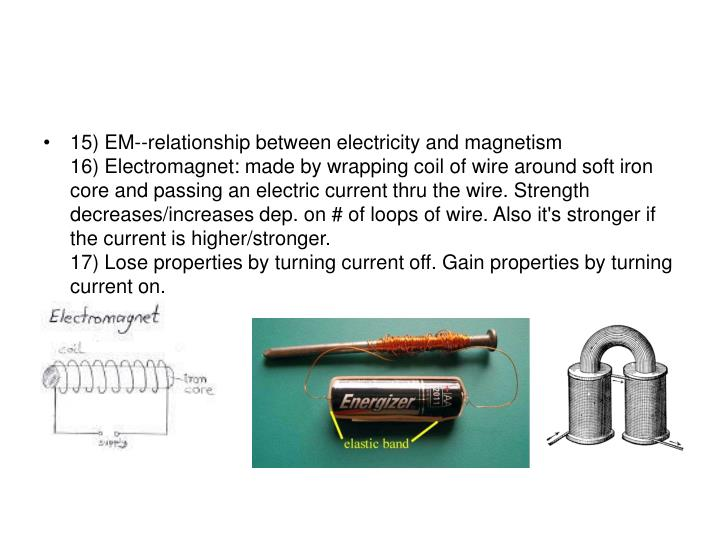 15) EM--relationship between electricity and magnetism