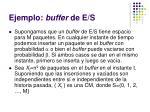 ejemplo buffer de e s