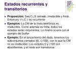 estados recurrentes y transitorios1