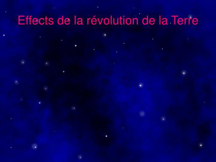 Effects de la révolution de la Terre