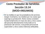 costo prestador de servicios secci n 13 14 mod insumos