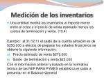 medici n de los inventarios