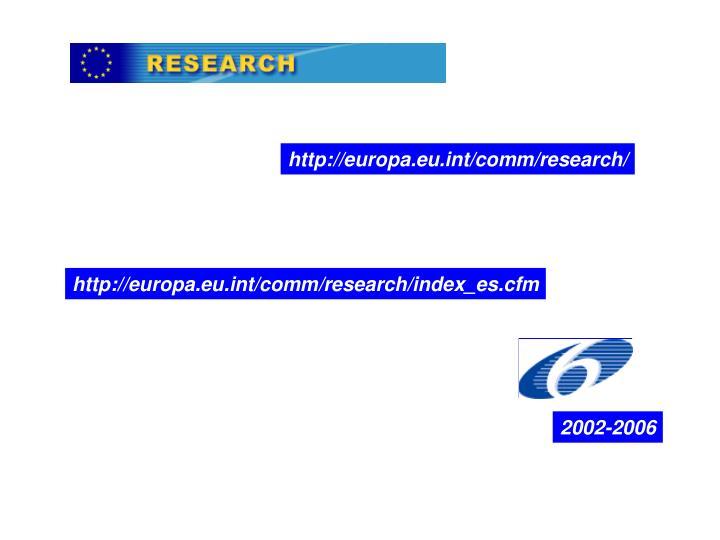 Http://europa.eu.int/comm/research/