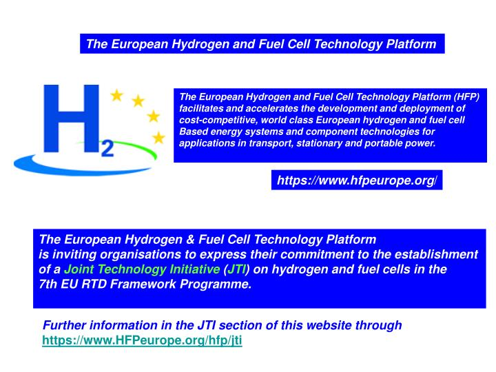 The European Hydrogen and Fuel Cell Technology Platform