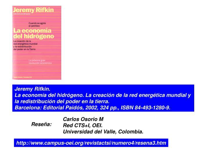 Jeremy Rifkin.