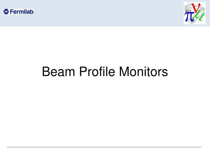 beam profile monitors n.