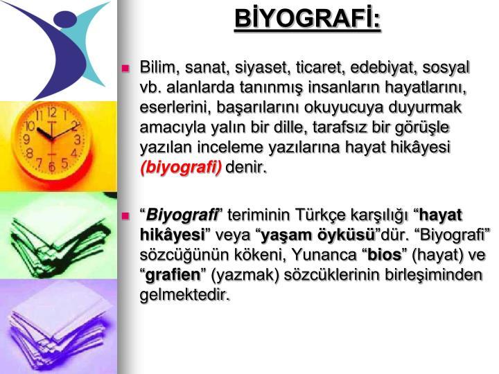BİYOGRAFİ: