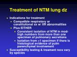 treatment of ntm lung dz