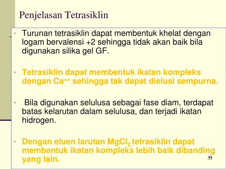 Penjelasan Tetrasiklin