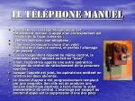 le t l phone manuel