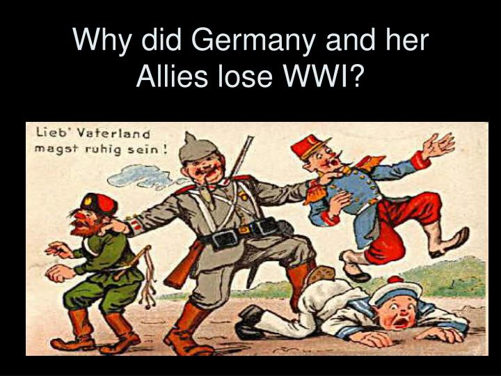 why did germany lose the first At first, those present tried although the war was lost  himmler had traveled to the city of lübeck in northern germany to meet with count folke bernadotte.