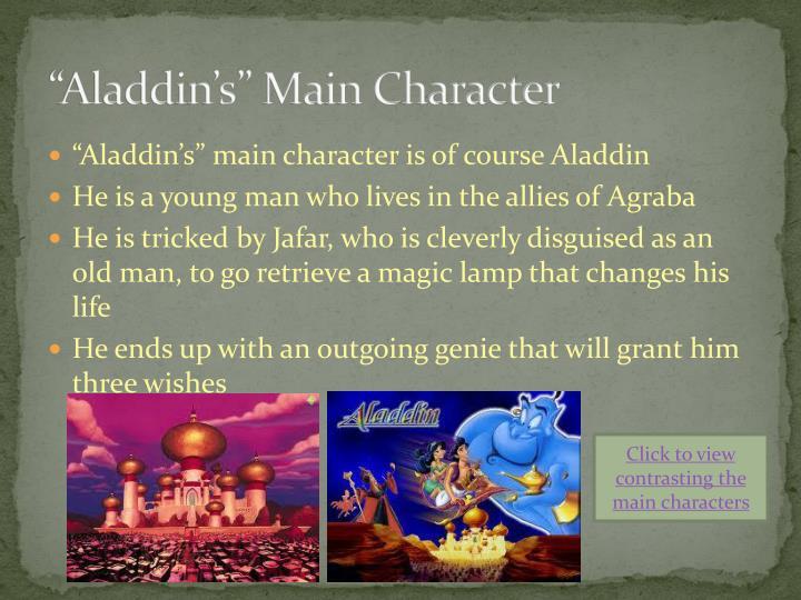 """Aladdin's"" Main Character"