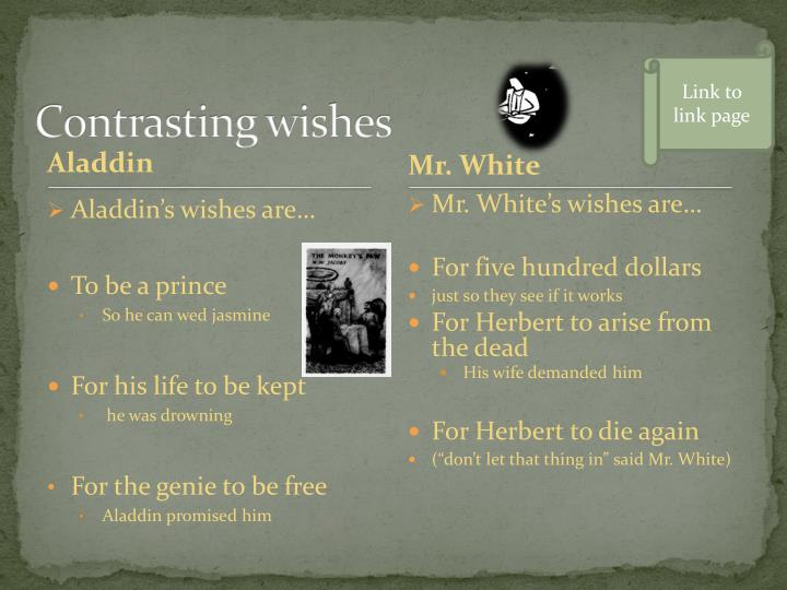 Contrasting wishes