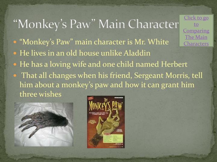 """Monkey's Paw"" Main Character"