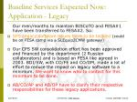 baseline services expected now application legacy