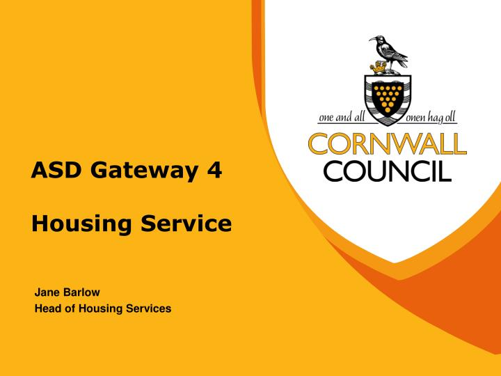 Asd gateway 4 housing service