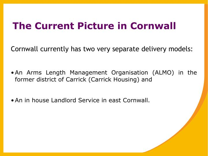 The current picture in cornwall