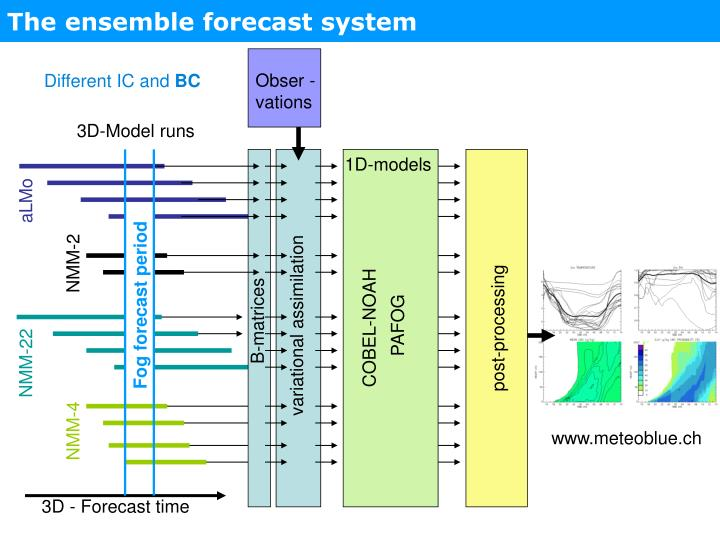 The ensemble forecast system