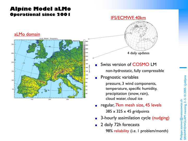 Alpine model almo operational since 2001