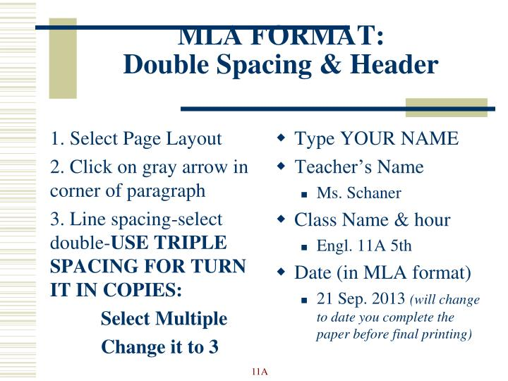 ppt mla format review powerpoint presentation id 5521373