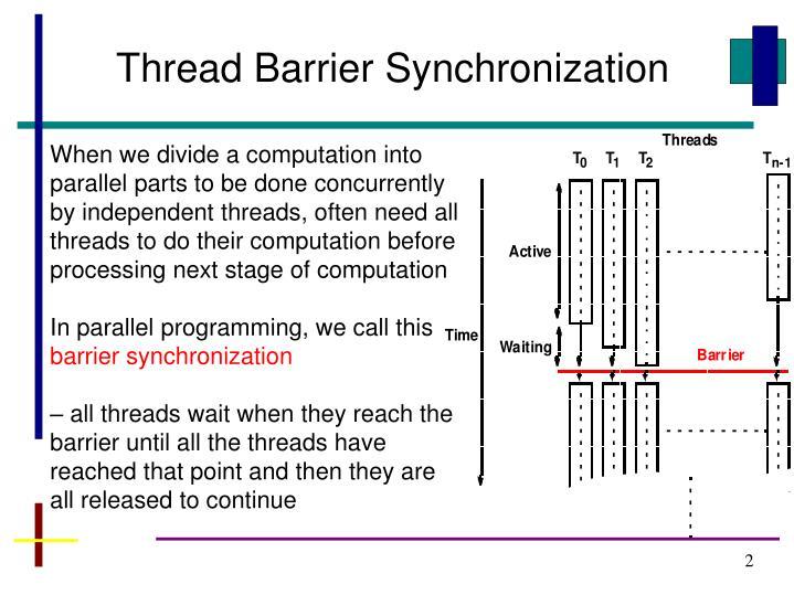 Thread Barrier Synchronization