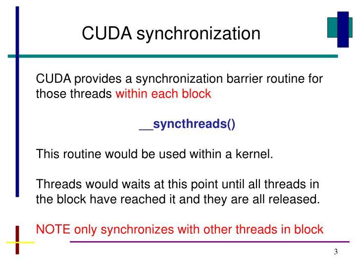 CUDA synchronization