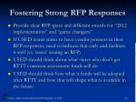 fostering strong rfp responses