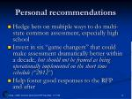 personal recommendations1