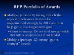 rfp portfolio of awards