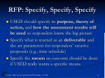 rfp specify specify specify