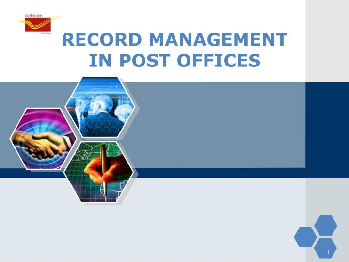 record management in post offices n.
