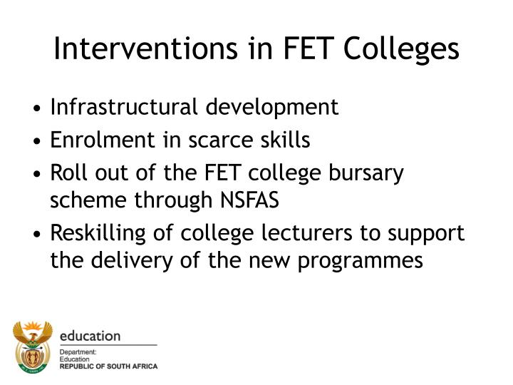 Interventions in fet colleges