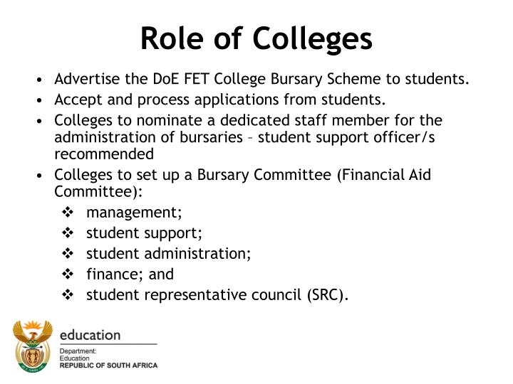 Role of Colleges
