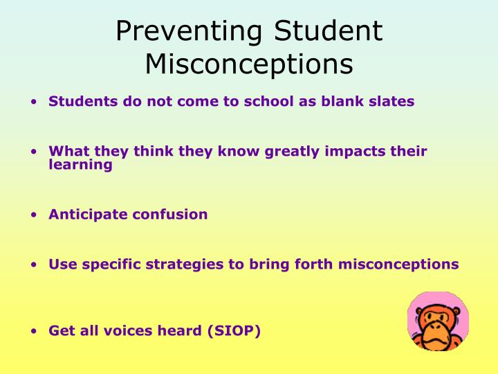 Preventing Student Misconceptions