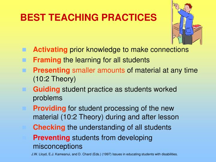 BEST TEACHING PRACTICES