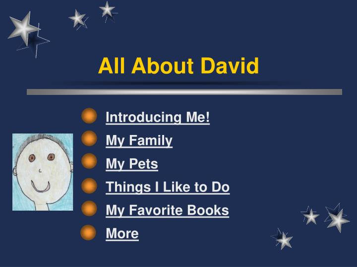 all about david n.