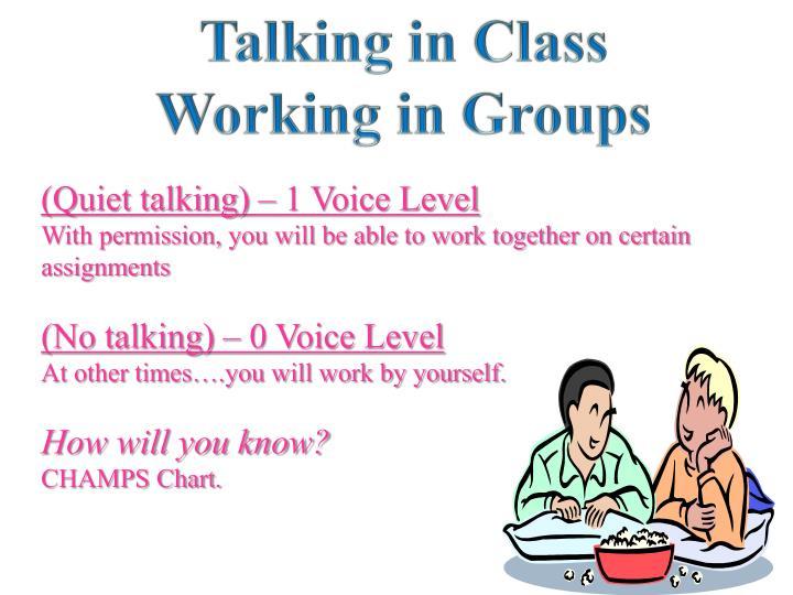 Talking in Class