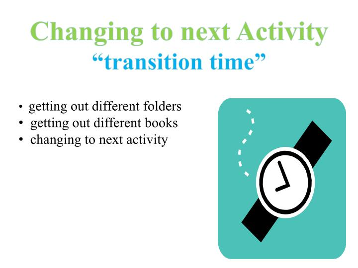 Changing to next Activity