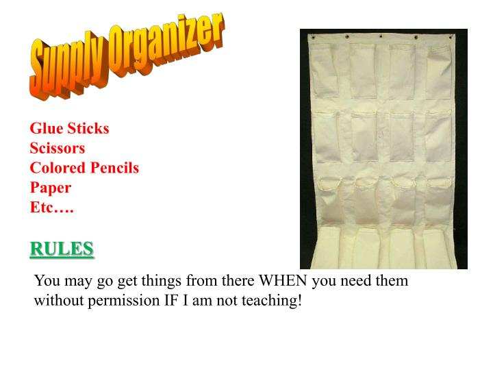 Supply Organizer