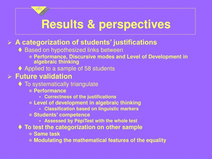 Results & perspectives