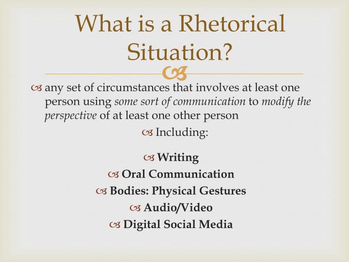 what is a rhetorical situation in writing