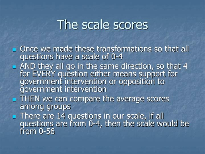 The scale scores