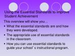 using the essential standards to improve student achievement