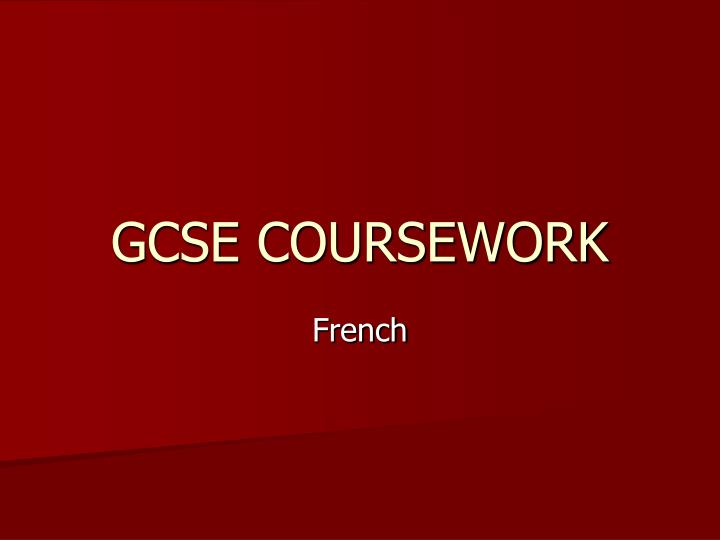 coursework presentation Find free coursework examples here we have provided some example coursework for free to help you with your studies.