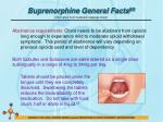 buprenorphine general facts 501