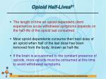 opioid half lives 31